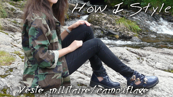 How I Style veste militaire camouflage